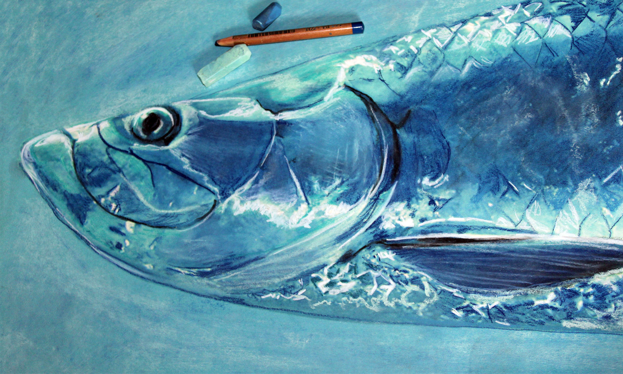 jack tarpon art � colorful modern fishing themed art